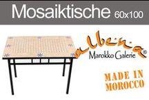 Marokkanische Mosaiktische 60x100cm / Mosaiktische in der Göße 60x100cm sind als beliebt als Küchentische, für den Garten, Balkon und Terrasse. www.albena-shop.d
