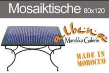 Mosaiktische 80x120cm / Grosse marokkanische Esstische mit orientalischem Mosaik.www.albena.shop.de