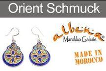 Marokkanischer Schmuck / Unsere auserlesene, orientalische Schmuckkollektion stammt aus der im Süden gelegenen Stadt Tiznit. Tizint ist berühmt für seine Silberarbeiten und hat sich in Marokko zum Zentrum des Kunsthandwerks der Silber-Schmiede entwickelt. www.albena-shop.de