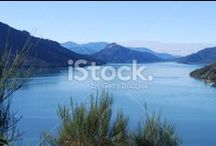 Marlborough Stock Photography / In Maori legend, they are the Prows of the Sunken Wakas.... the Magical Marlborough Sounds... Pure Beauty...