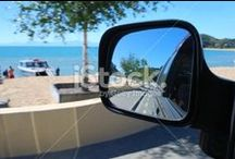 Rear View Mirrors / Saw things clearer.... in my rear view mirror..... Stunning images of views in car mirrors....