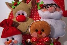 Joulu Askarteluhuovasta  - Christmas felt figures
