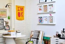 Creative Work Spaces / I work across many mediums, including video, drawing, painting, collaging and photography and this board is a collection of interesting work spaces that allows for creativity to flourish.