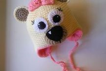 Crochet - knitted baby/child hats / Some of these don't have patterns...
