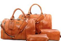 Travel Sets / Made in Italy Leather Travel Set  - Borse da viaggio in pelle Made in Italy Tuscany Leather