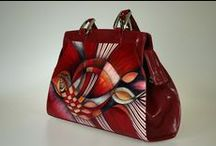 Bambas Bags / Hand-made and painted leather handbags.