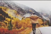 Fall Inspiration / Fall vibes, landscapes and outside activities, forests, lakes, moutains and coffee