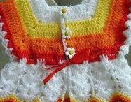 Crochet - knitted baby/child dresses