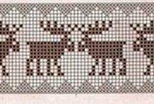 Kirjoneulemalleja - Knitting charts