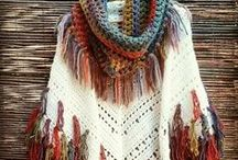 Crochet-Knitted ponchos