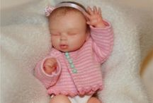 Polymers clay miniature babies / Artist dolls / by Valerie Morris