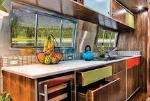 Airstream - Kitchen / Airstream kitchen design and storage ideas