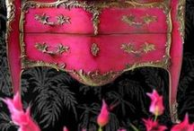 Pink Painted Furniture / Pink painted furniture painted with pink chalk paint from the darkest pink to the palest pink you can imagine