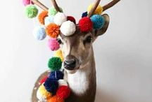 Mad about Pom-Poms / We love using Pom-Poms in our crafts and sewing, here are our favourite Pinterest Pom-Pom ideas!