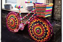 Yarn Bombing / We're loving the yarn bomb trend that's happening all around us! You can Yarn Bomb ANYTHING!