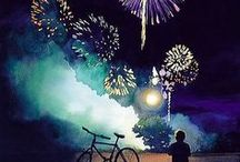 "Colour the Night / ""We shall go wild with fireworks...And they will plunge into the sky and shatter the darkness."" ― Natsuki Takaya"
