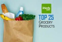 Top 25 ~ Grocery / Top 25 Best Selling Grocery Products on iHerb (http://www.iherb.com/Food-Grocery-Items) ~ New Customers can use Rewards Code PNT999 to get $10 off of a $40 minimum purchase or $5 off first time orders of less than $40. / by iHerb Inc