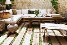 Gardens & Outside Spaces / Gardens. Vegetables. Herbs. Flowers. Art. Light. Gather. Sit