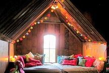 Magic Spaces / Tapestries. Lights. Silk. Color. Inspire. Think. Sleep. Bohemian