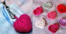 Corazones / Colección de corazónes en tejido crochet