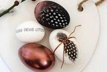 [easter] / easter | decoration | deko | interieur | food | sweet | bunny | eggs | black | white | minimal | doityourself