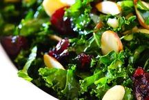 A Bed of Greens: Kale Salads / A kale salad is an excellent way to get all your essential vitamins and nutrients!