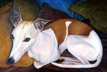 Paintings Greyhounds / Paintings Subject: Greyhounds and other dogs