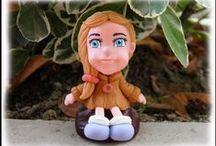 Personaggi in pasta di mais - cold porcelain characters / alcuni dei miei personaggi realizzati a mano in pasta di mais