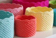 Crochet baskets, bags