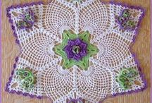 Crochet Doilies Coasters Tableclothes