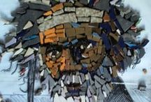mosaic faces