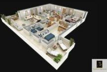 Les plans de nos  appartements en Pavillons / Les Tours Végétales à Casa Anfa. Découvrez une sélection de nos appartements en pavillons.