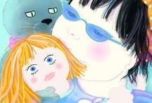Jasmine and Boo / We are characters out of one of Elizabeth's picture books. Boo is a cat and my imaginary friend.