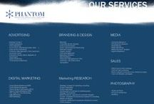 Phantom Marketing Services / Our firm of passionate and visionary professionals is dedicated to challenge with confidence any business situation and providing solutions that impact, innovate and transform businesses by making good ideas GREAT.