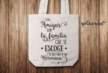 Tote Bags / Bolsa de tela exclusivas con diseños únicos. yoqueriba.com