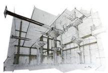 Tableau personnel (Mémoire fin d'étude architecture) / Quelques croquis de travail. Intervention sur le marché existant Mercado de la Cebada, Madrid