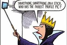 Selfie Stick Humor / Cartoons about our favorite accessory, the selfie stick.