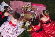 """Theme: Pin Up Cola Party / """"Pin Up Cola Party """" lots of great vintage ideas for theming your party in a retro style!"""