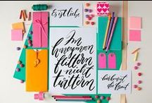 Calligraphy / Kalligrafie / Beautiful calligraphy, typography, brush script, handlettering