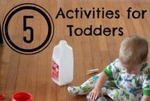 Activities for Toddlers / #Moms and #Dads: Keep your toddlers busy with these activities that have hidden  benefits to them, such a building fine motor skills.