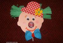 Carnival- Απόκριες / Carnival themed crafts, clowns, masks, hats, worksheets and many more for kindergarten - αποκριάτικες κατασκευές και υλικό για την τάξη / by Kinderella (Elena Makri)