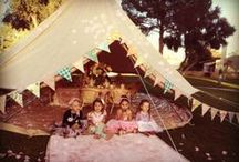 Bell Tent Tea Party / A secret garden tea party in a cotton canvas bell tent? A match made in heaven.