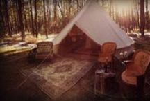 Glamping w/Stout Tent / Glamping camping in canvas tents under the stars in 500 thread count sheets.