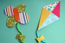 Kites- χαρταετοί / How to make a kite craft with preschoolers / by Kinderella (Elena Makri)