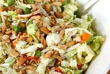 Healthy Salad Recipes / Who doesn't love a great salad with lots of 'stuff' on it?  Here are some easy and healthy ideas.