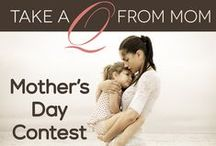 Mother's Day Contest / To join the group board, send your email address to support@quatela.com.  To enter the contest: 1) Follow Quatela Center for Plastic Surgery on Pinterest, FB, Instagram, and Twitter. 2) Add a photo of you and your mom or mother-like figure with the hashtag #takeaQfrommom. 3) In the description of your pin, tell us what your mom or mother-like figure taught you about beauty or why she's beautiful.  For more information, visit http://www.quatela.com/blog/takeaqfrommom-mothers-day-contest.
