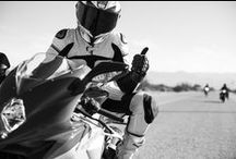 Woman + motorcycle = joy