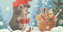 Новый Год / Новый год, СССР, Советские открытки, Зима, New Year, Soviet Postcards, Winter