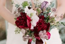 bouquets and flowers / brides with  bouquets, flowers and wedding decoration