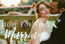 Hope for Your Marriage / Looking at marriage through the lens of a Biblical worldview to infuse hope into your own marriage. Christian Marriage // Love // Romance // Husband // Wife // Faith